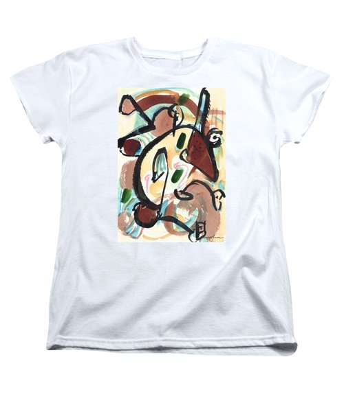Women's T-Shirt (Standard Cut) featuring the painting The Conversation 2 by Stephen Lucas
