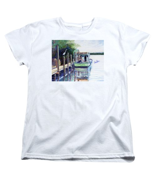 Women's T-Shirt (Standard Cut) featuring the painting The Crabby Kim by Roger Rockefeller