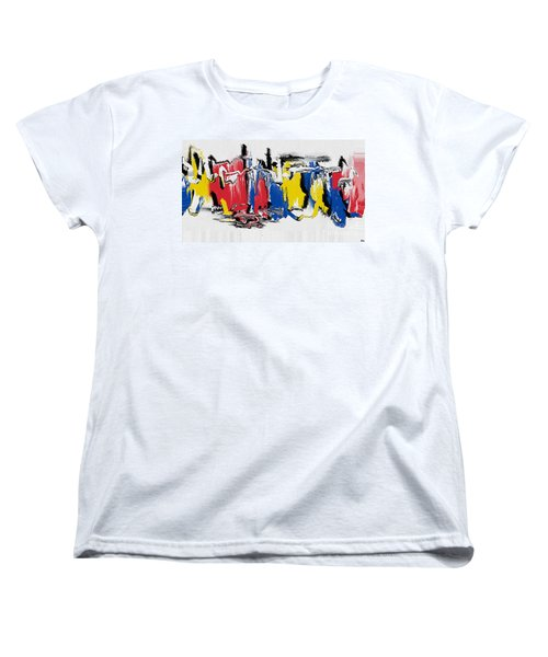 Women's T-Shirt (Standard Cut) featuring the painting The Dance by Roz Abellera Art