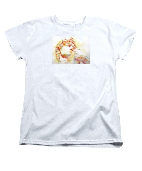 The David By Michelangelo. Tribute Women's T-Shirt (Standard Cut)