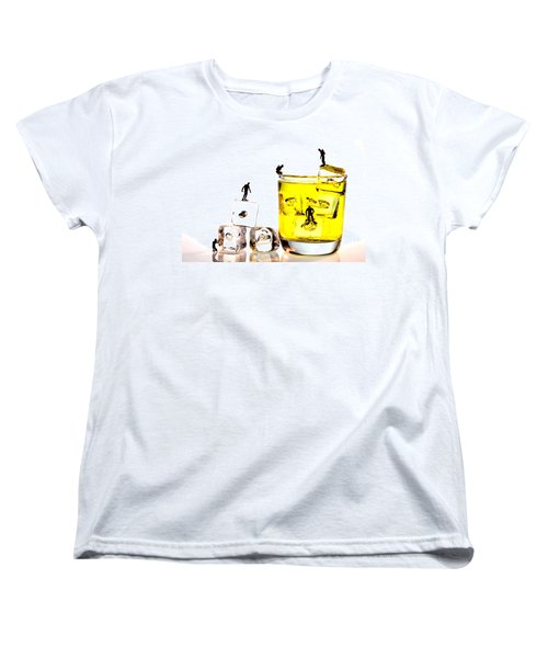 The Diving Little People On Food Women's T-Shirt (Standard Cut) by Paul Ge