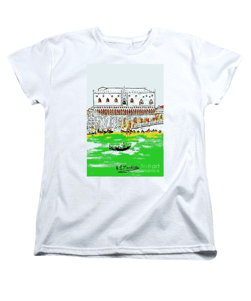 Women's T-Shirt (Standard Cut) featuring the painting The Doge's Palace by Loredana Messina