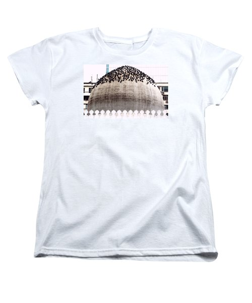 Women's T-Shirt (Standard Cut) featuring the photograph The Dome Of The Mosque by Ethna Gillespie