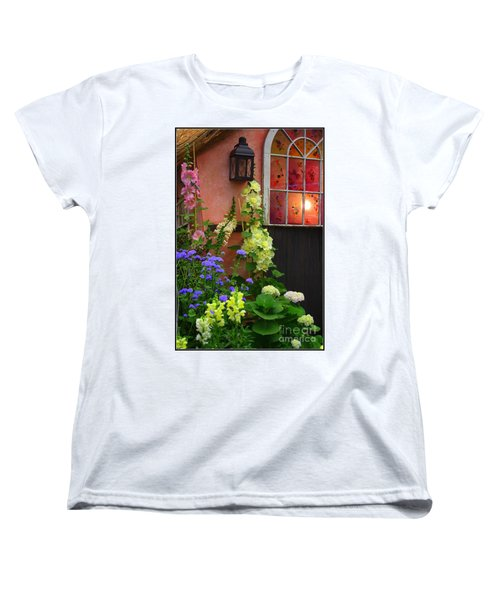 The English Cottage Window Women's T-Shirt (Standard Cut) by Dora Sofia Caputo Photographic Art and Design