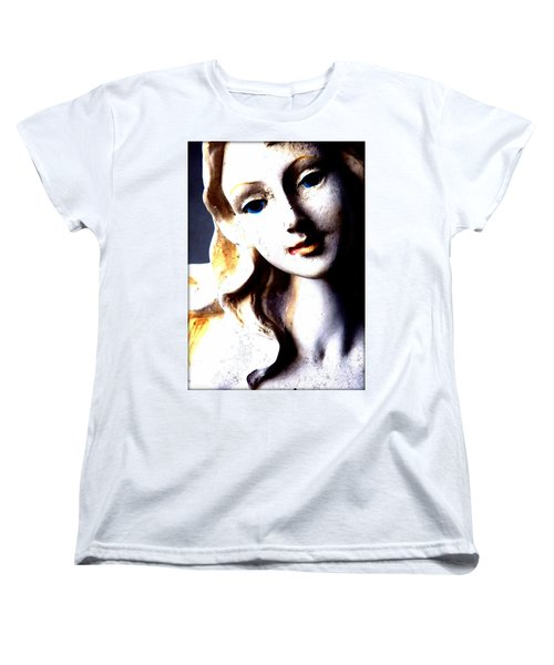 Women's T-Shirt (Standard Cut) featuring the photograph The Face Of A Woman by Faith Williams