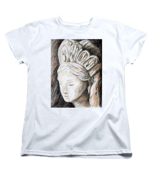 The Face Of Quan Yin Women's T-Shirt (Standard Cut) by Danuta Bennett