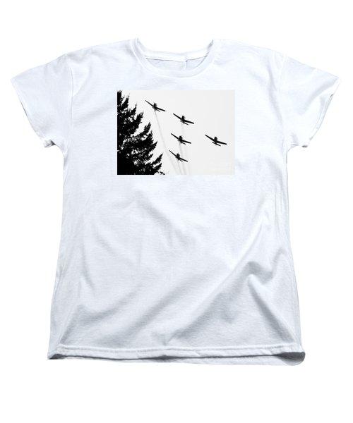 The Fly Past Women's T-Shirt (Standard Cut) by Chris Dutton