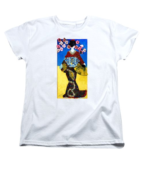 The Geisha Women's T-Shirt (Standard Cut) by Apanaki Temitayo M