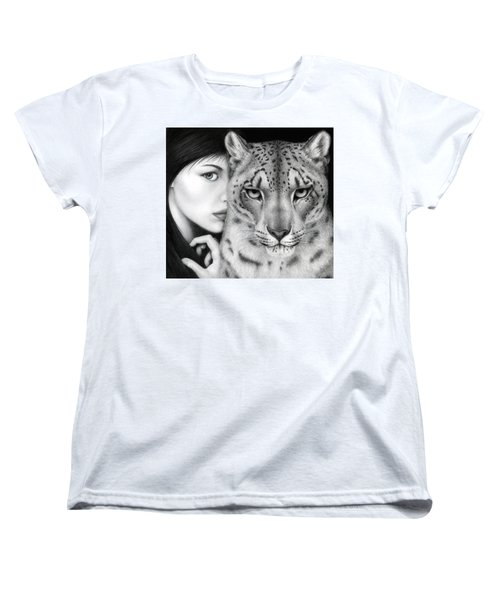 Women's T-Shirt (Standard Cut) featuring the painting The Guardian by Pat Erickson