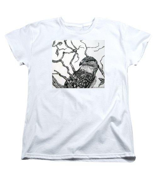 The Hawk Women's T-Shirt (Standard Cut) by Alison Caltrider