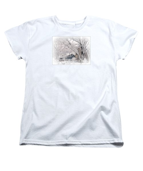 Women's T-Shirt (Standard Cut) featuring the photograph The Last Snow Storm by Kay Novy