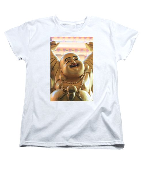 The Laughing Buddha Women's T-Shirt (Standard Cut) by Amy Gallagher