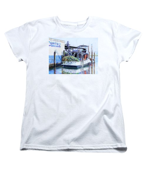 Women's T-Shirt (Standard Cut) featuring the painting The Lily B by Roger Rockefeller