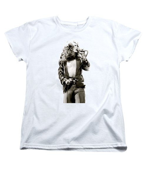The Lion  Robert Plant Women's T-Shirt (Standard Cut) by Iconic Images Art Gallery David Pucciarelli