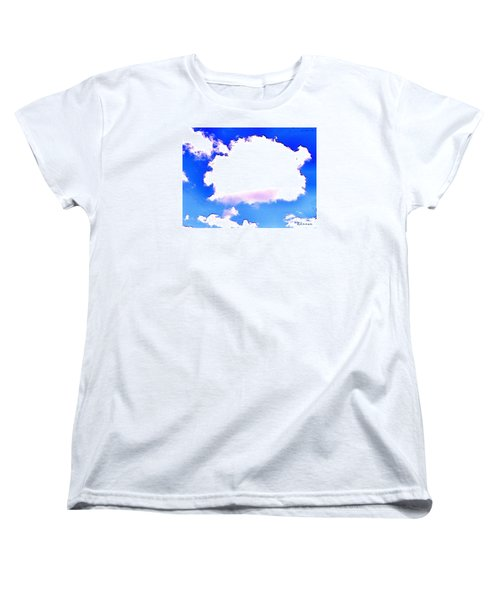 Women's T-Shirt (Standard Cut) featuring the photograph The Little White Cloud That Cried by Sadie Reneau