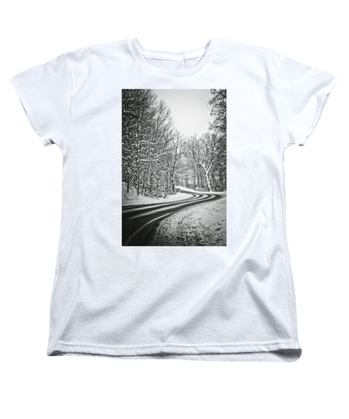 The Long Road Of Winter Women's T-Shirt (Standard Cut) by Sara Frank
