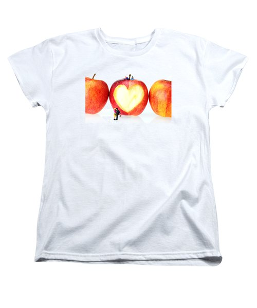 The Lovers In Valentine's Day Little People On Food Women's T-Shirt (Standard Cut) by Paul Ge