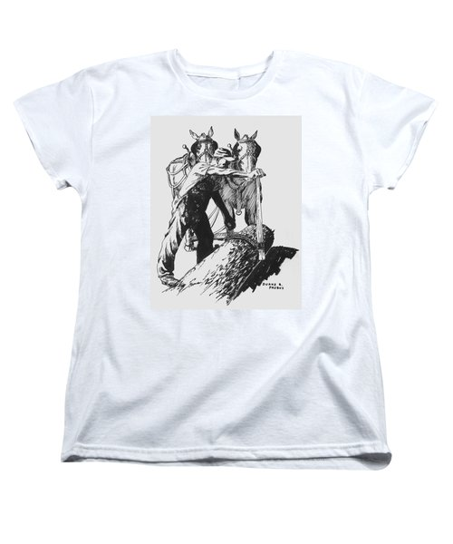 The Lumberjack Women's T-Shirt (Standard Cut) by Duane R Probus