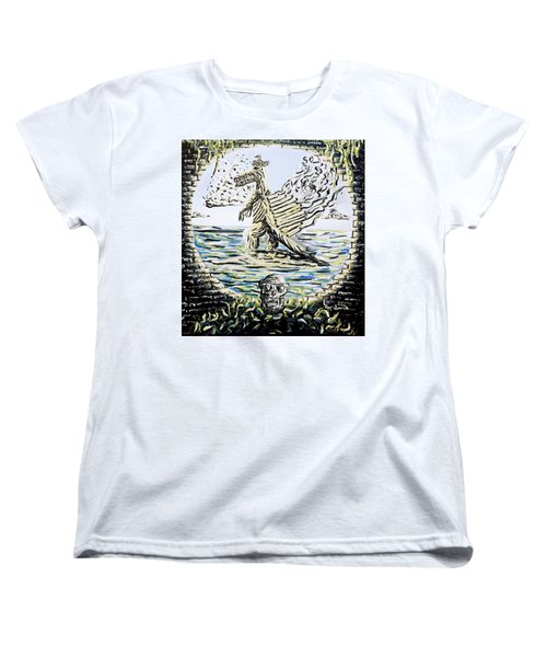 Women's T-Shirt (Standard Cut) featuring the painting The Machine by Ryan Demaree
