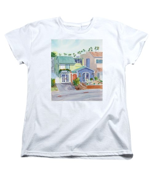 The Most Colorful Home In Belmont Shore Women's T-Shirt (Standard Cut) by Debbie Lewis