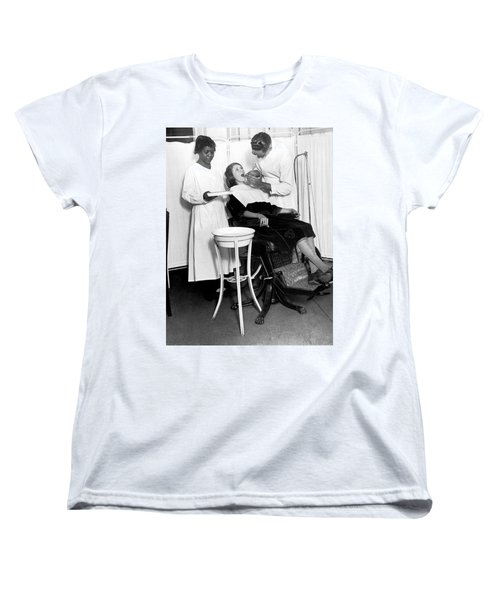 The North Harlem Dental Clinic Women's T-Shirt (Standard Cut) by Underwood Archives