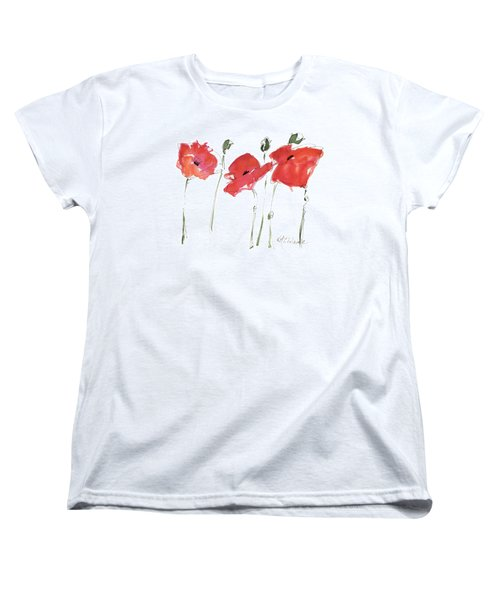 The Poppy Ladies Women's T-Shirt (Standard Cut) by Kathleen McElwaine