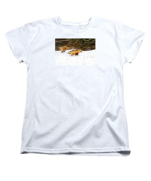 The Race Is On Women's T-Shirt (Standard Cut) by Jim Garrison