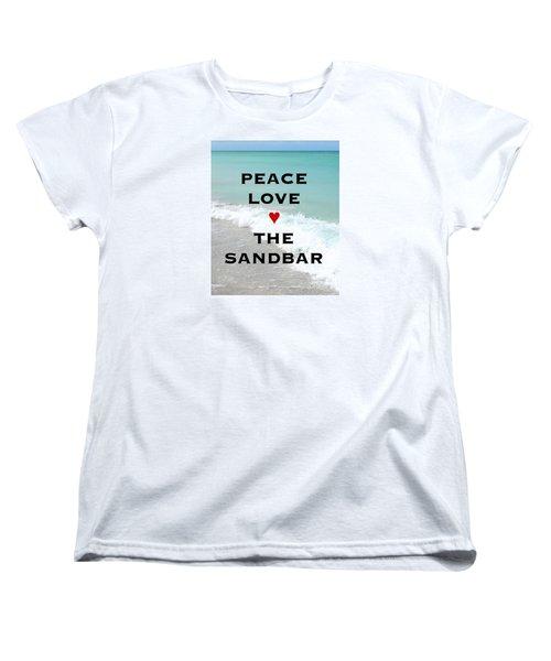 Women's T-Shirt (Standard Cut) featuring the photograph The Sandbar Restaurant Anna Maria Island by Margie Amberge