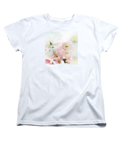 The Silent World Of A Butterfly Women's T-Shirt (Standard Cut) by Morag Bates
