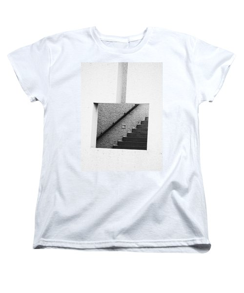 The Stairs In The Square Women's T-Shirt (Standard Cut) by David Pantuso