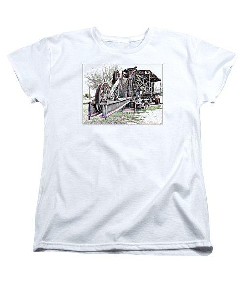 The Steam Shovel Women's T-Shirt (Standard Cut) by Glenn McCarthy Art and Photography