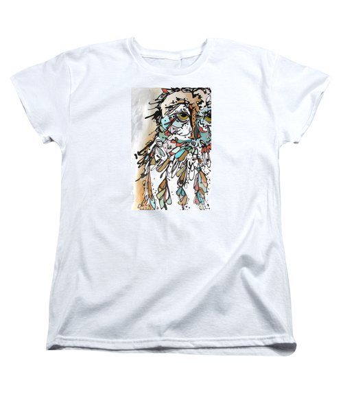 Women's T-Shirt (Standard Cut) featuring the painting The Teacher by Nicole Gaitan