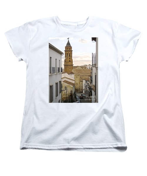 Women's T-Shirt (Standard Cut) featuring the photograph The Town Tower by Suzanne Oesterling