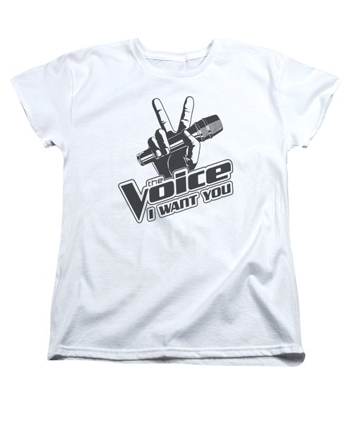 The Voice - One Color Logo Women's T-Shirt (Standard Cut) by Brand A