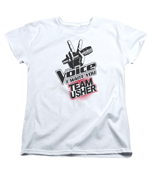 The Voice - Team Usher Women's T-Shirt (Standard Cut) by Brand A