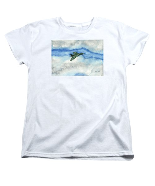 Women's T-Shirt (Standard Cut) featuring the painting The Vulcan Bomber by John Williams
