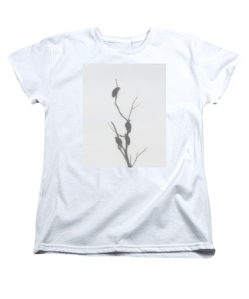 Their Waiting Four Black Vultures In Dead Tree Women's T-Shirt (Standard Cut) by Chris Flees