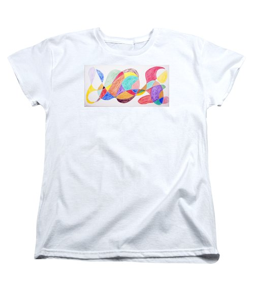 Women's T-Shirt (Standard Cut) featuring the painting Theme Parks by Stormm Bradshaw