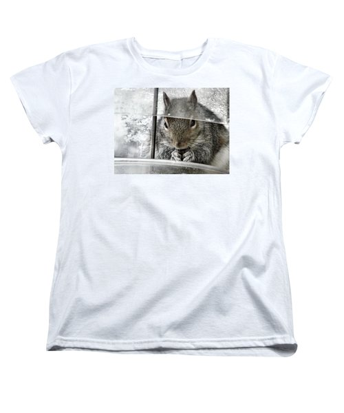 Thief In The Birdfeeder Women's T-Shirt (Standard Cut) by Rory Sagner