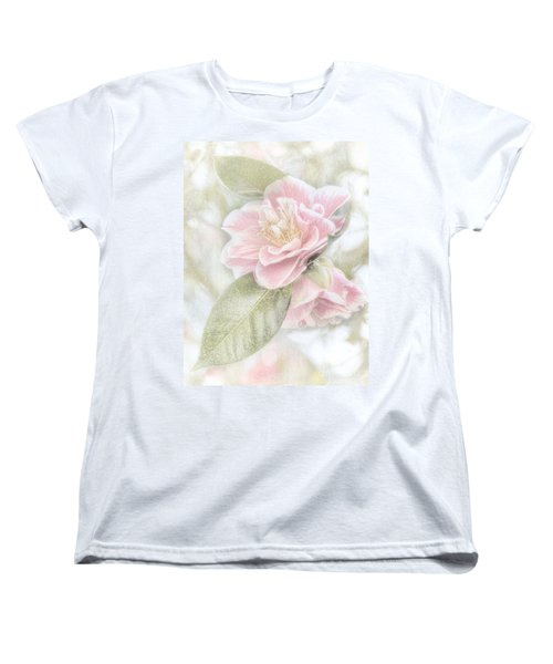 Think Pink Women's T-Shirt (Standard Cut) by Peggy Hughes