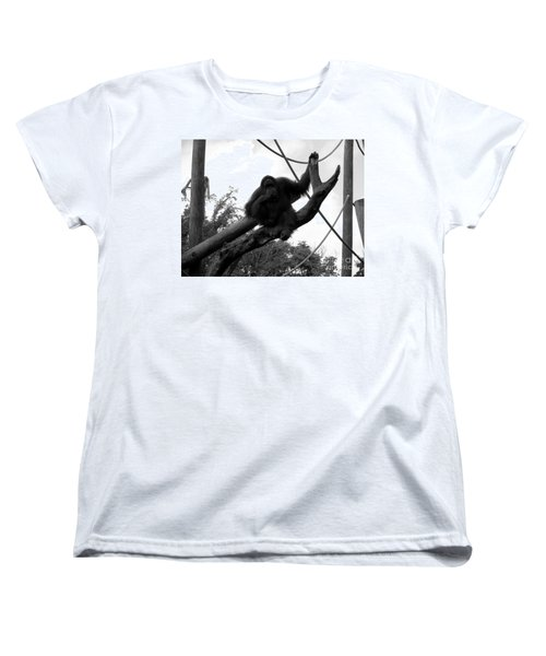 Women's T-Shirt (Standard Cut) featuring the photograph Thinking Of You Black And White by Joseph Baril