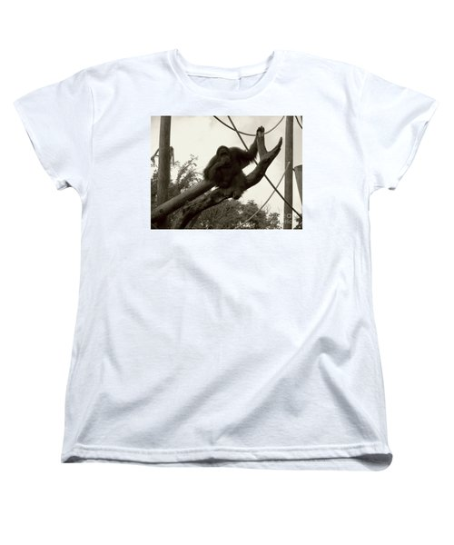 Women's T-Shirt (Standard Cut) featuring the photograph Thinking Of You Sepia by Joseph Baril