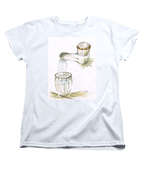 Women's T-Shirt (Standard Cut) featuring the painting Thirsty Of Water by Teresa White