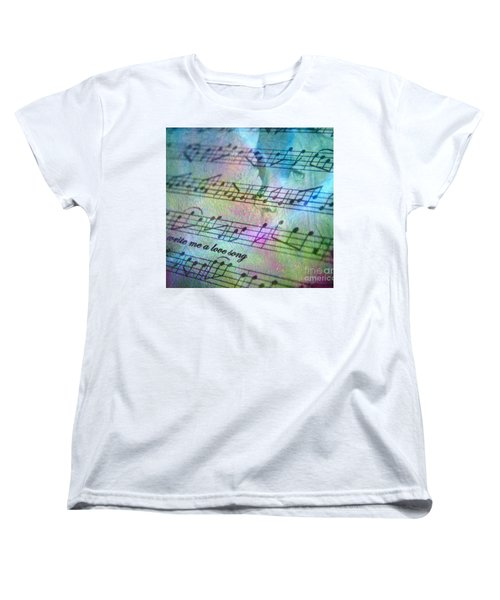 This Song's For You Women's T-Shirt (Standard Cut) by Irma BACKELANT GALLERIES