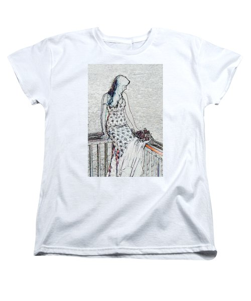 Thoughtful Women's T-Shirt (Standard Cut) by Leticia Latocki