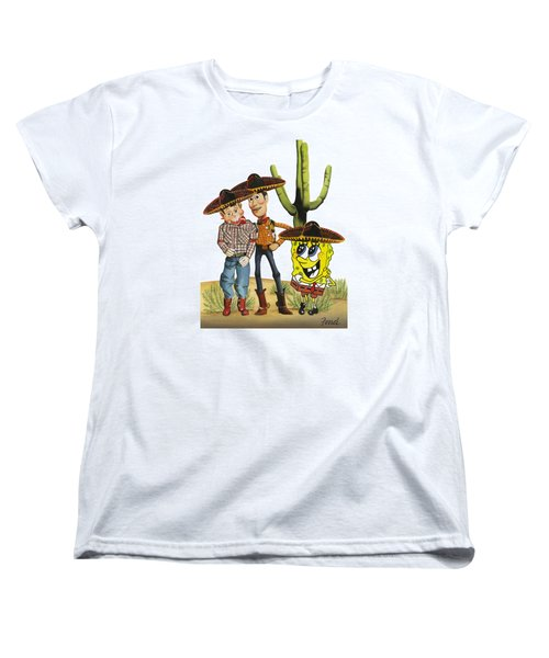 Three Amigos Women's T-Shirt (Standard Cut) by Ferrel Cordle
