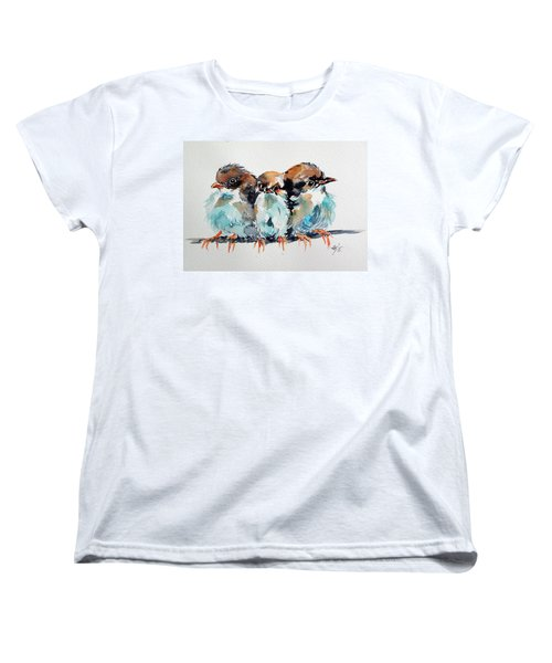 Three Birds Women's T-Shirt (Standard Cut) by Kovacs Anna Brigitta