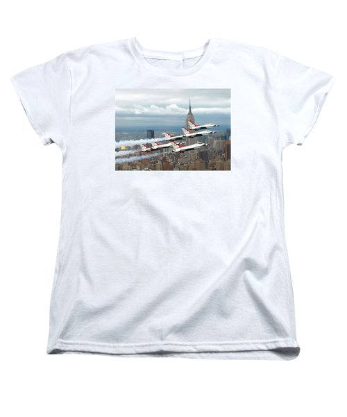 Thunderbirds Over New York City Women's T-Shirt (Standard Cut) by U S A F