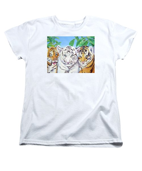Tiger Cubs Women's T-Shirt (Standard Cut) by Thomas J Herring