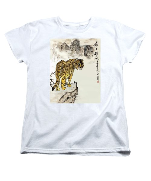 Tiger Women's T-Shirt (Standard Cut) by Yufeng Wang
